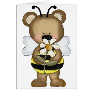 Bumble Bee Baby Bear Card