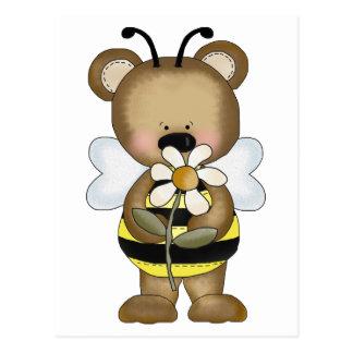 Bumble Bee Baby Bear Postcard