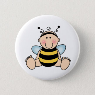 Bumble Bee Baby Button