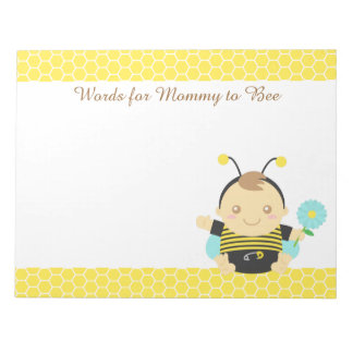 Bumble Bee Baby, For Mommy to Be Notepad