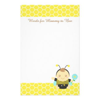 Bumble Bee Baby, For Mommy to Be Stationery Design