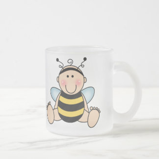 Bumble Bee Baby Frosted Glass Coffee Mug