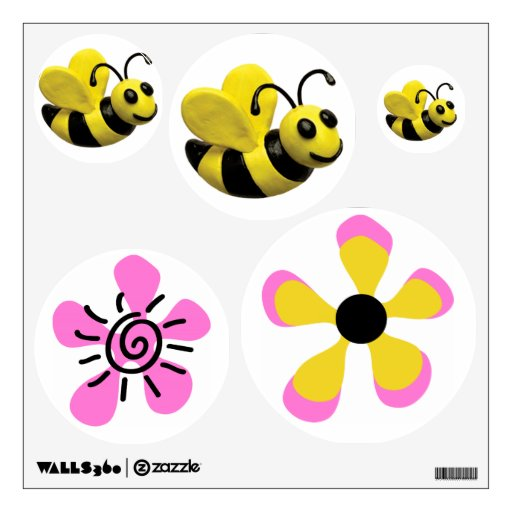 Bumble Bee Baby Girl Shower Bees and Flowers Wall Graphic