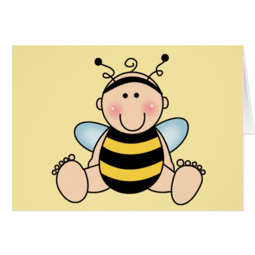 Bumble Bee Baby Greeting Card