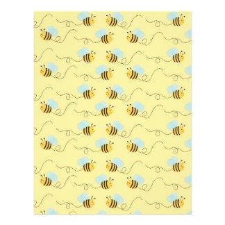 Bumble Bee Baby Scrapbook Paper Letterhead