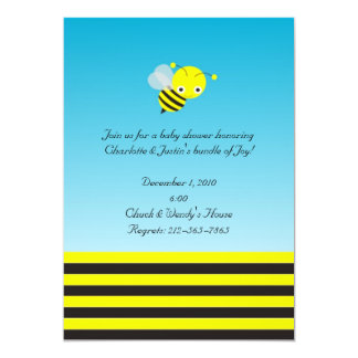 bumble bee baby shower 5x7 paper invitation card