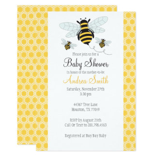 Bumble Bee Baby Shower-Birthday Party Invitation