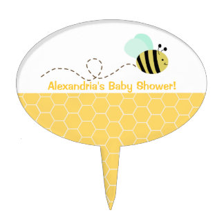 Bumble Bee Baby Shower Cake Topper Pick
