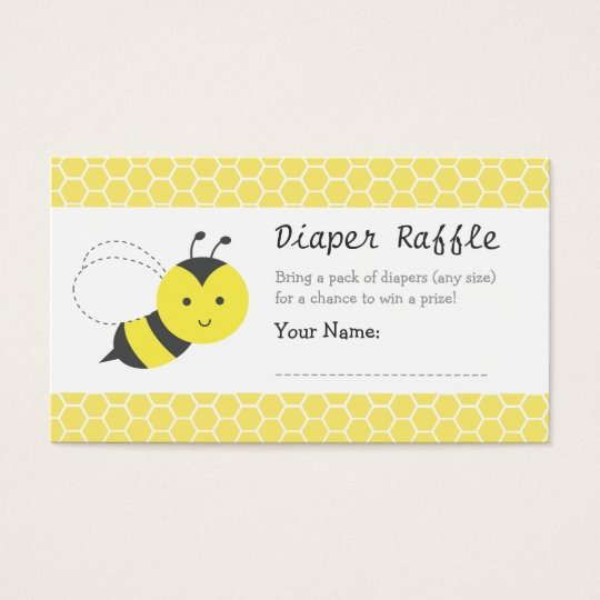 bumble bee baby shower diaper raffle tickets zazzle