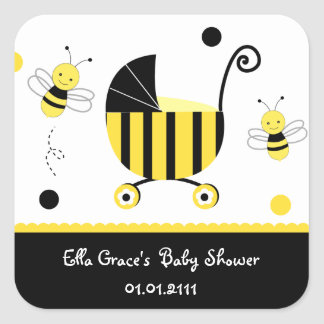 Bumble Bee Baby Shower Favor Stickers Labels Seals