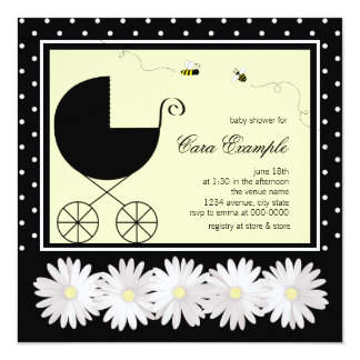 Bumble Bee Baby Shower Personalized Invite