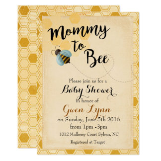 Bumble Bee Baby Shower Invitation