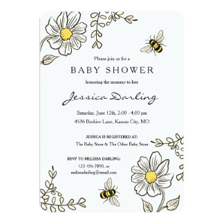 Bee invitations baby shower arts arts blebee baby shower invitations announcements zazzle filmwisefo