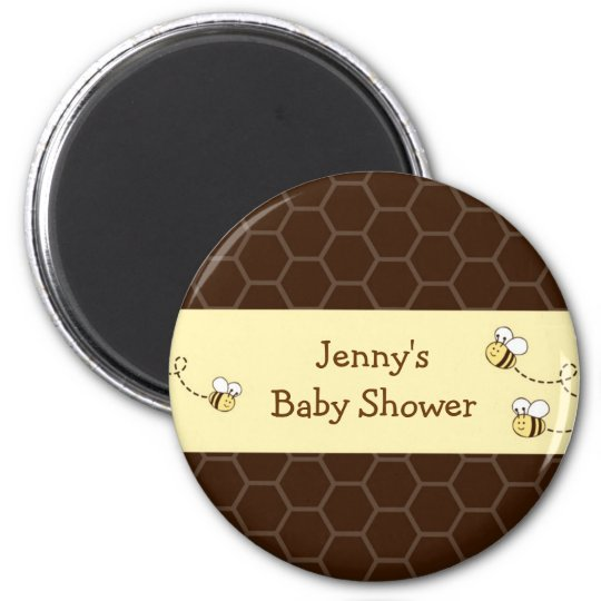 Bumble Bee Baby Shower Party Favor Magnets