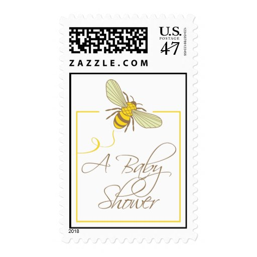 Bumble Bee Baby Shower Postage Stamp