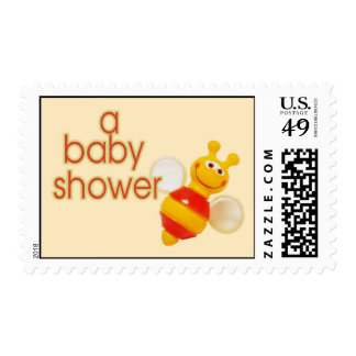 Bumble Bee Baby Shower Stamp
