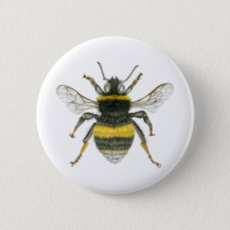 Bumble Bee Badge Pinback Button