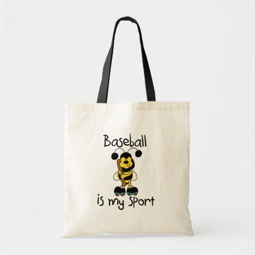 Bumble Bee Baseball Sport Tote Bags