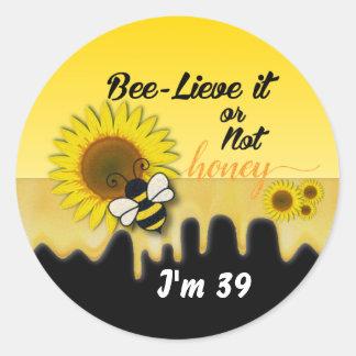 Bumble Bee Birthday Classic Round Sticker