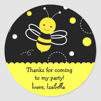Bumble bee Birthday Party Favor Stickers