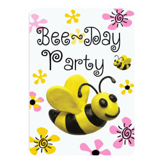 Bumble Bee Birthday Party Invites