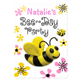 Bumble Bee Birthday Party Announcement