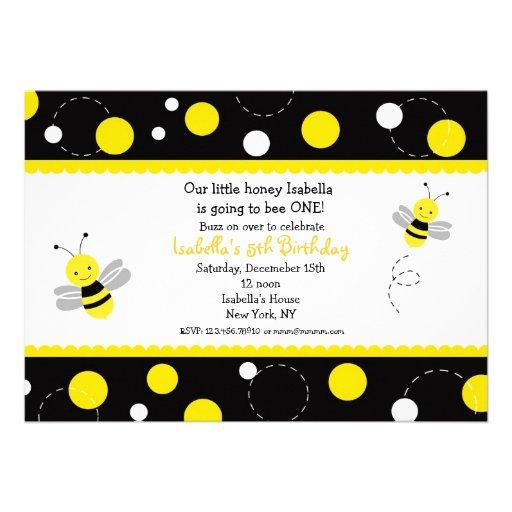 Bumble Bee Invitation is perfect invitation sample