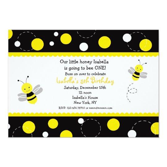Bumble bee birthday party invitations zazzle bumble bee birthday party invitations filmwisefo