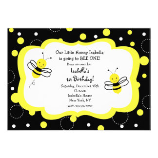 Bumble Bee Birthday Party Invitations Honey