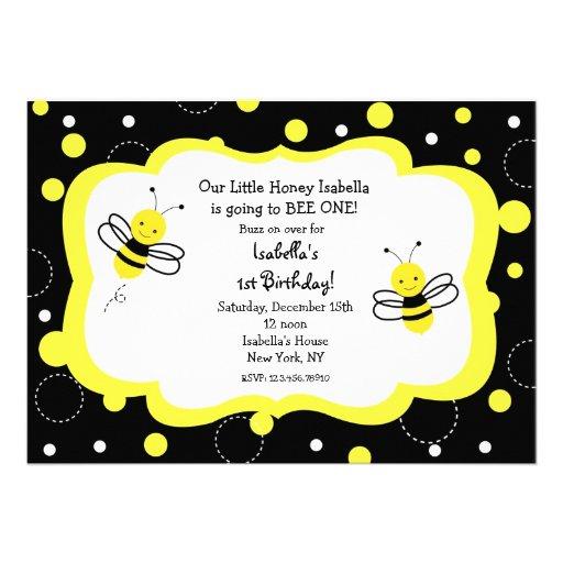 Personalized honey bee invitations custominvitations4u bumble bee birthday party invitations honey filmwisefo