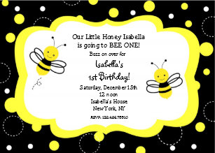 Bee birthday party invitations announcements zazzle bumble bee birthday party invitations honey filmwisefo