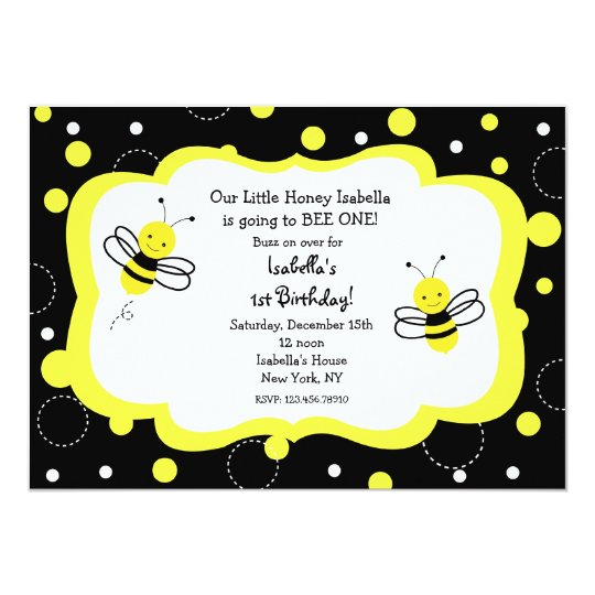 Bumble bee birthday party invitations honey zazzle bumble bee birthday party invitations honey filmwisefo Images
