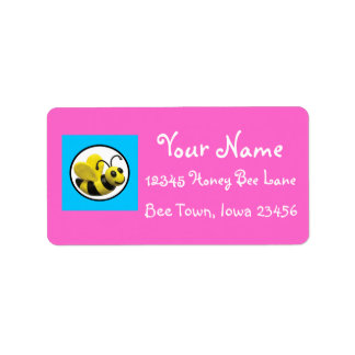 Bumble Bee Birthday Party Label