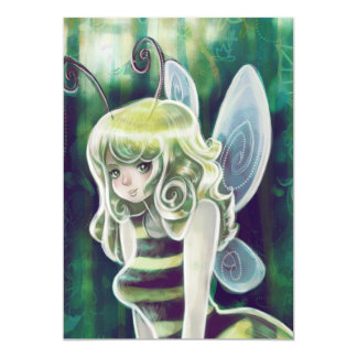 Bumble Bee Blond Fairy Card