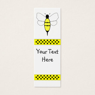 Bumble Bee Bookmark Mini Business Card