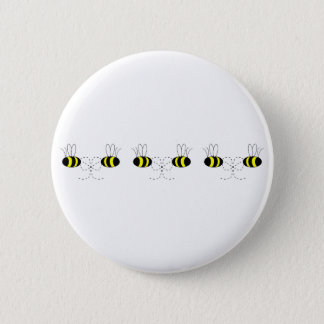 Bumble Bee Bows In A Row Button