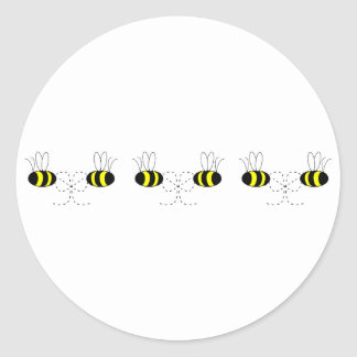 Bumble Bee Bows In A Row Sticker