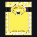 """Bumble Bee Business Letterhead<br><div class=""""desc"""">Sweet honey bees with polka dot print and a yummy cupcake.</div>"""
