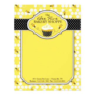 Bumble Bee Business Letterhead