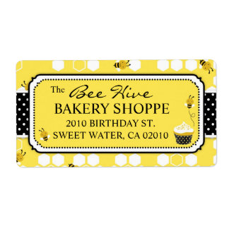 Bumble Bee Business Shipping Label