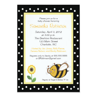 Bumble Bee Buzz 5x7 Baby Shower Invitation