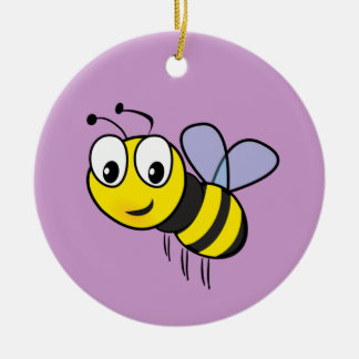 Bumble Bee Buzz Ceramic Ornament