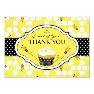 Bumble Bee Cupcake Thank You Card
