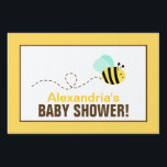 "Bumble Bee Custom Baby Shower Yard Sign<br><div class=""desc"">Bee Baby Shower Yard Sign. Customize with your own wording. 