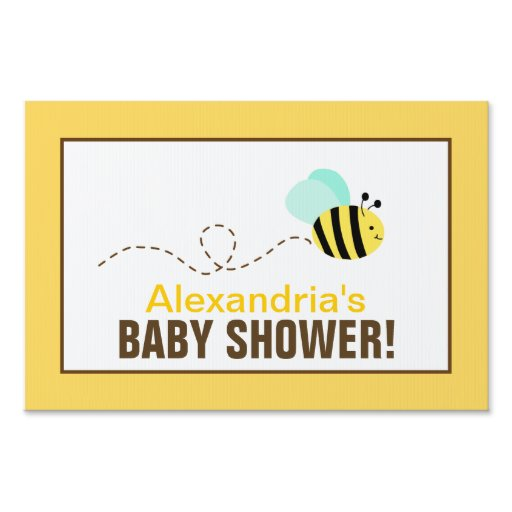 bumble bee custom baby shower yard sign zazzle