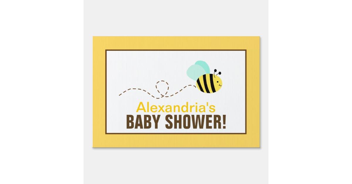 bumble bee custom baby shower yard sign zazzle