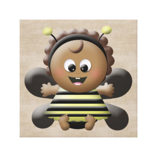 Bumble Bee Custom Children / Baby Wall Decor Canvas Print