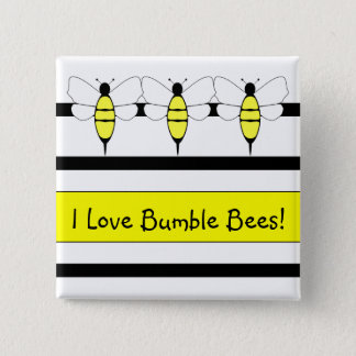 Bumble Bee Customizable Button