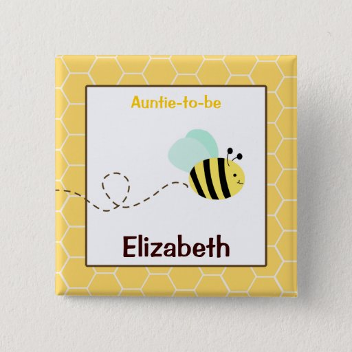 Bumble Bee Customized name tag Button