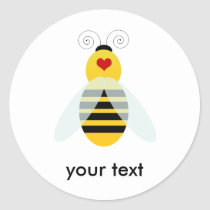 bumble bee cuties classic round sticker